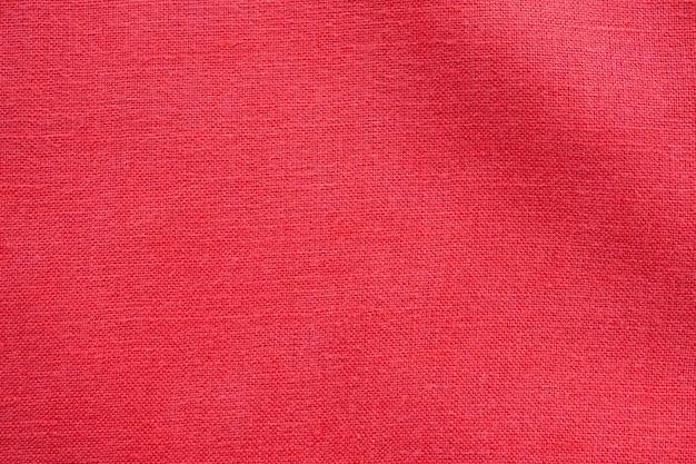Fundo de textura de tela de linho de cor vermelha