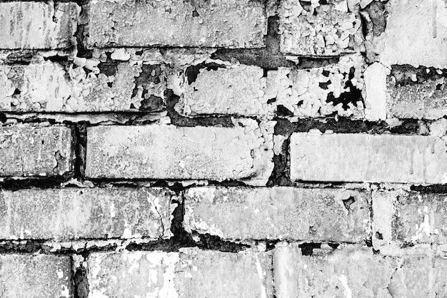 Fundo de textura de tijolo com arranhões e rachaduras