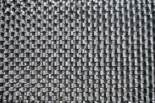 Fundo de textura de tijolos cinza. usado para o texto do projeto.