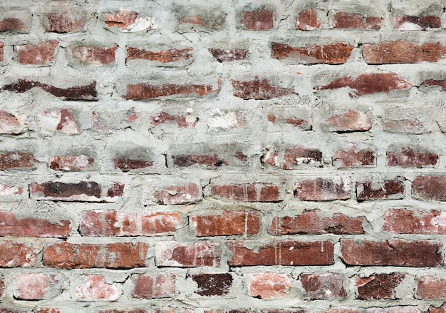 Fundo de textura de tijolos retrô descascados