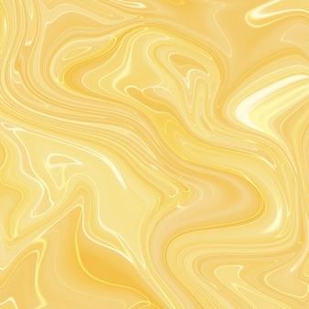 Fundo de textura de tinta amarela de marmoreio líquido.