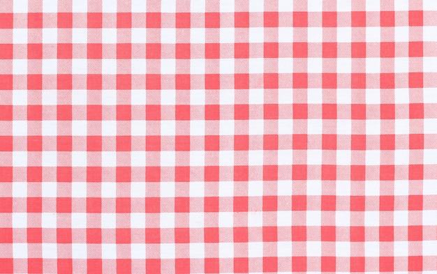 Fundo de textura de toalha de mesa quadriculada clássica vermelha com espaço de cópia