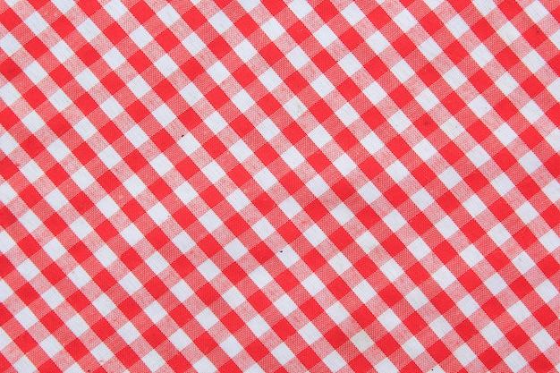 Fundo de textura de toalha de mesa quadriculada clássica vermelha