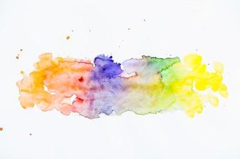 Fundo de textura de traçado de pincel aquarela vívido