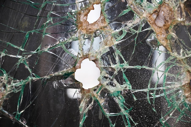 Fundo de textura de vidro quebrado