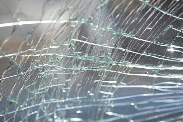 Fundo de textura de vidro rachado.