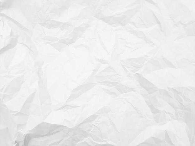 Fundo de textura fina de papel branco amassado