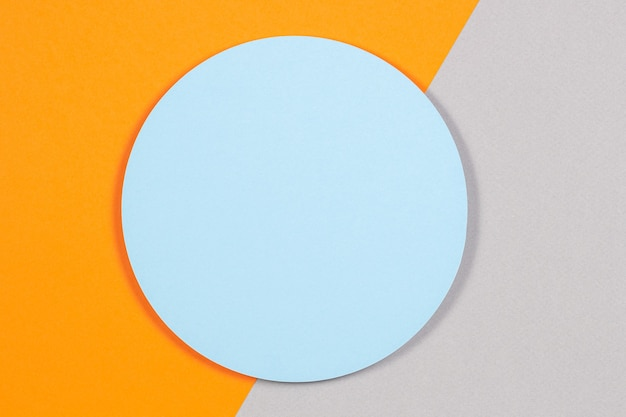 Fundo de textura geométrica abstrata de papel de cor azul claro suave, cinza pastel e laranja