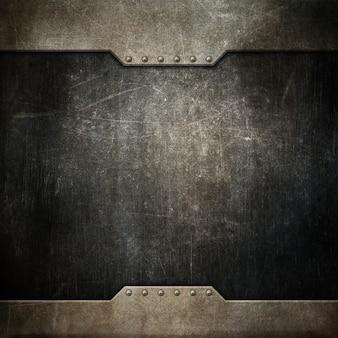 Fundo de textura grunge com design metálico