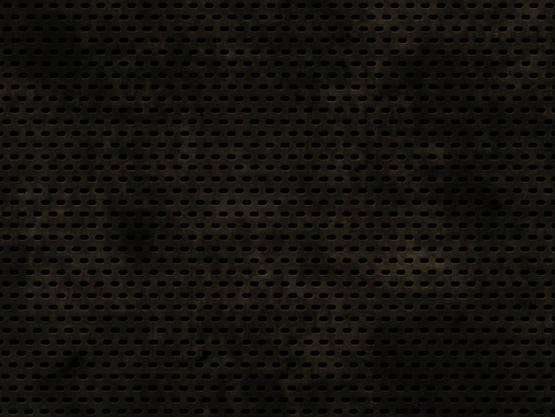 Fundo de textura metálica grunge perfurada