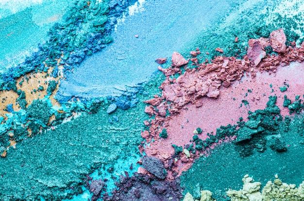 Fundo de textura multicolorida de sombra para os olhos