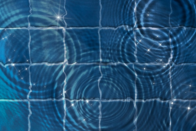 Fundo de textura ondulada de água, blocos azuis