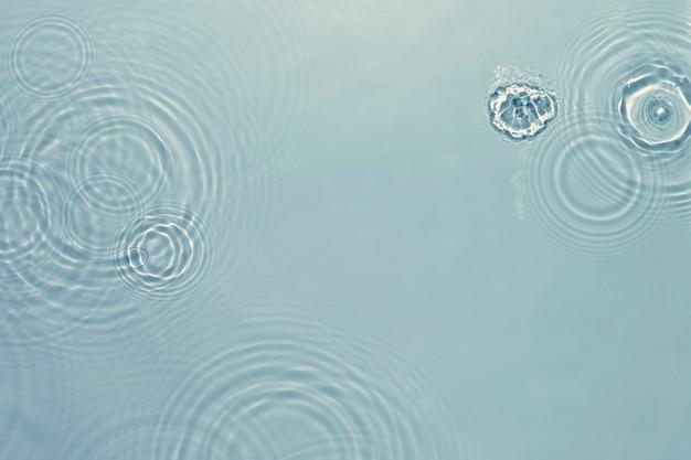 Fundo de textura ondulada de água, design azul
