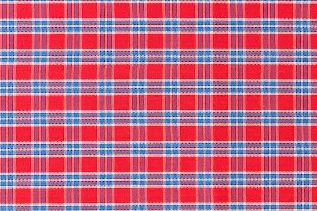Fundo de textura padrão xadrez vermelho e azul
