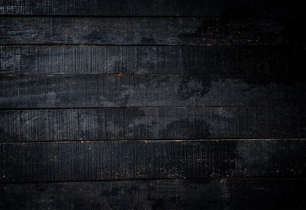 Fundo de textura plana de pranchas de madeira preta
