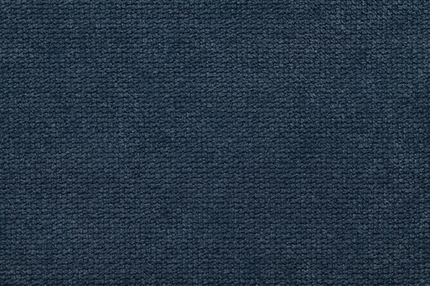 Fundo de textura têxtil azul marinho