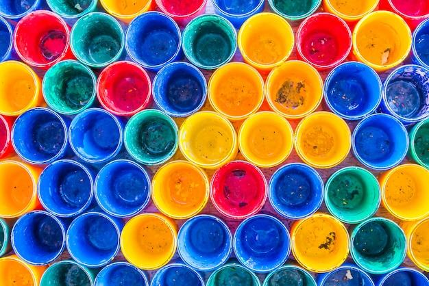 Fundo de texturas de garrafa colorida