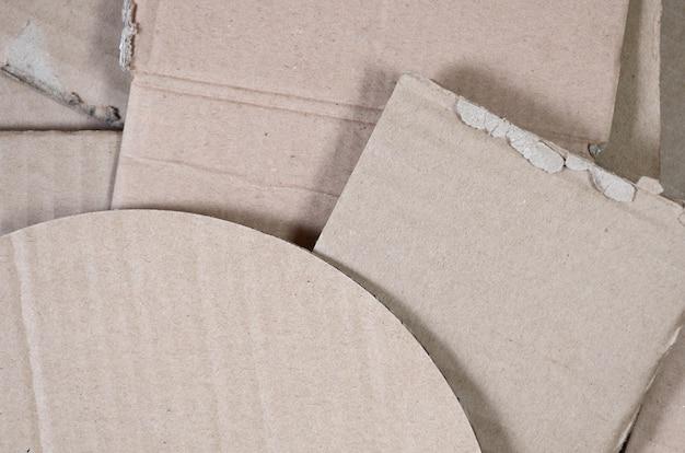 Fundo de texturas de papel empilhadas prontas para reciclar