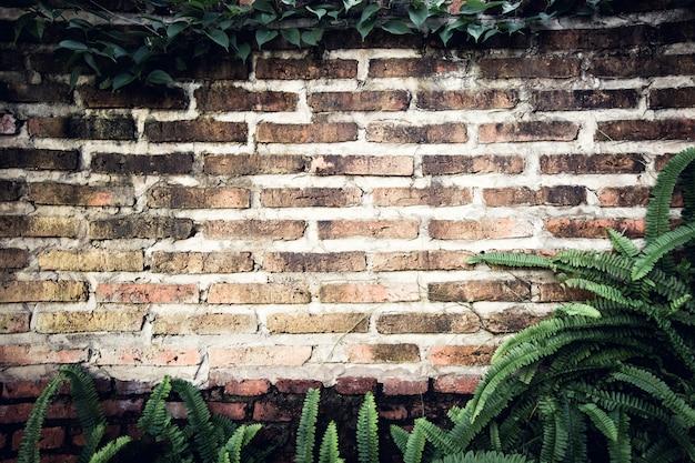 Fundo de tijolo antigo decorativo em casa