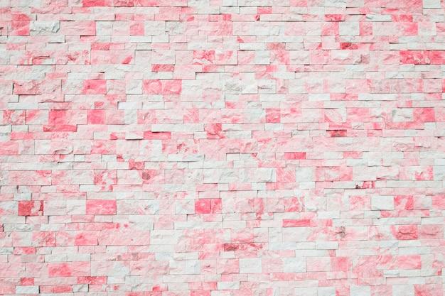 Fundo de tijolo em rosa e branco