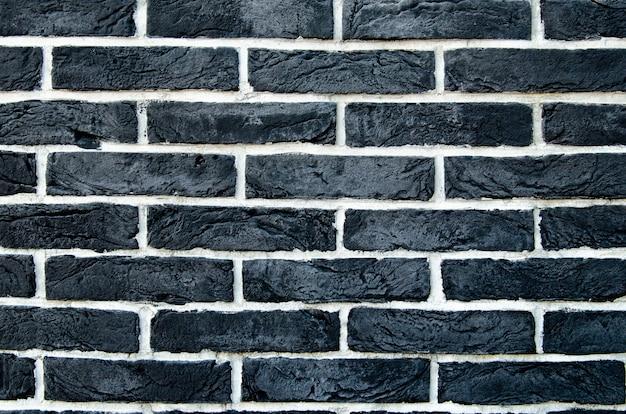 Fundo de tijolos pretos