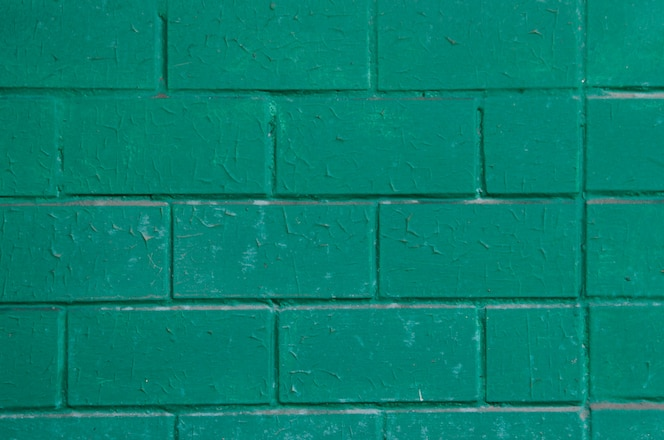 Fundo de tijolos verdes