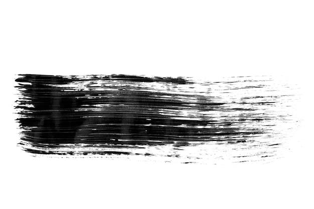 Fundo de tinta preta pintado com pincel