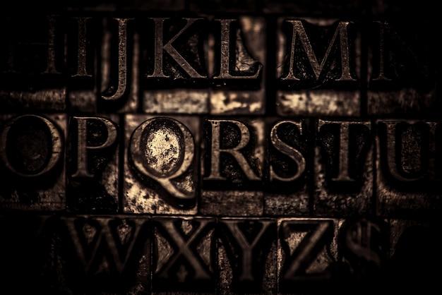 Fundo de tipografia