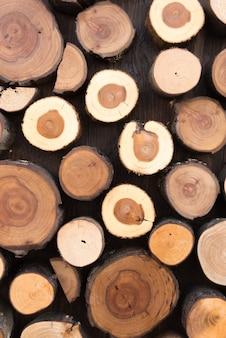 Fundo de tocos de árvore