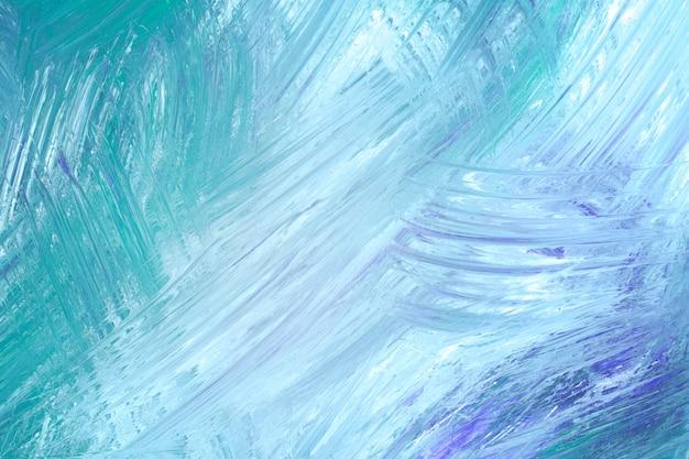 Fundo de traçado de pincel verde-azulado