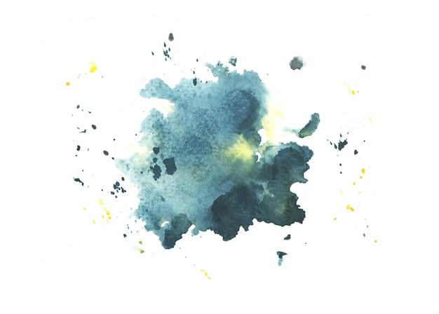 Fundo de traçado de tinta aquarela mancha aquarela