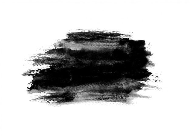 Fundo de traço de tinta preta