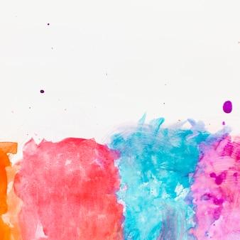 Fundo de traços de pincel aquarela abstrata