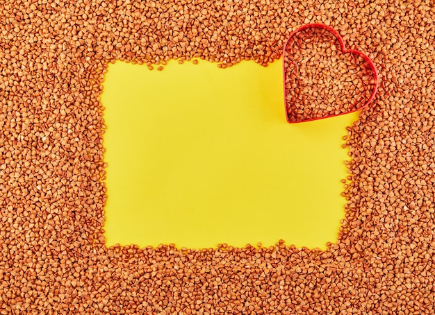 Fundo de trigo sarraceno seco fresco disperso