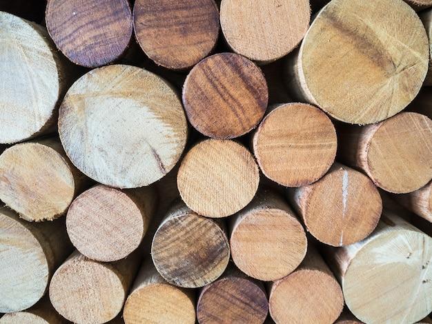 Fundo de tronco de madeira teca redondo