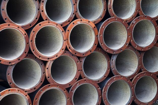 Fundo de tubos de aço industrial