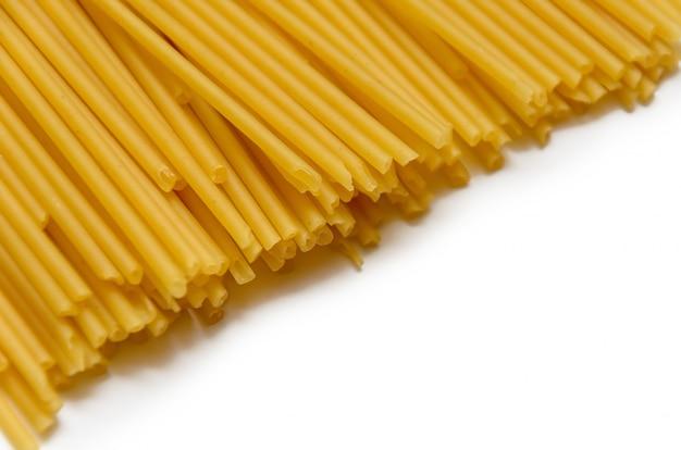 Fundo de tubos de espaguete amarelo