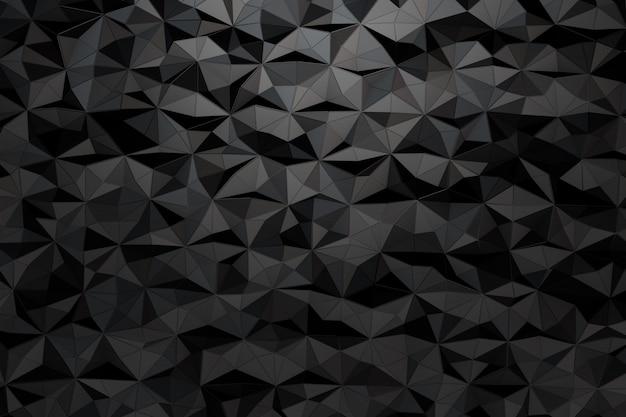 Fundo de uma variedade de triângulos. 3d render