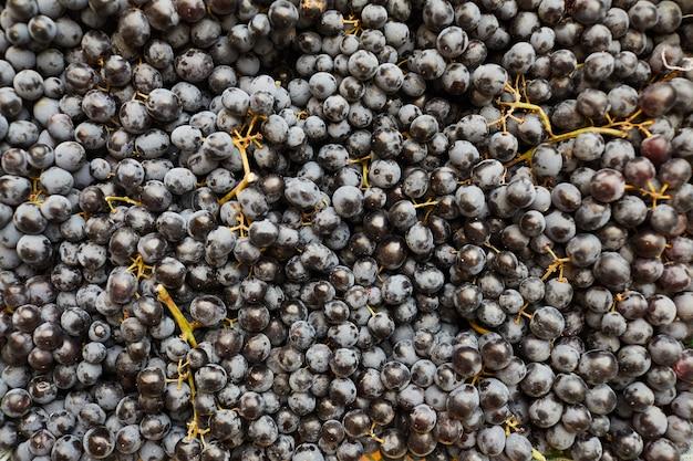 Fundo de uvas pretas