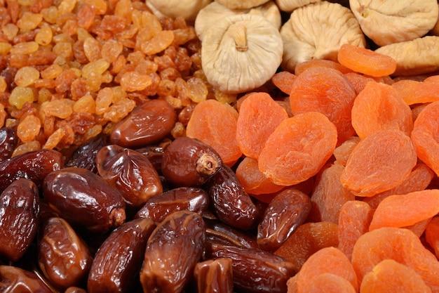 Fundo de vários frutos secos