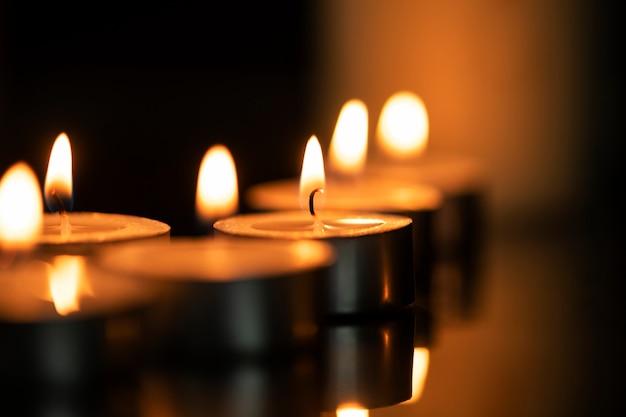 Fundo de vela diwali, imagem estética da chama