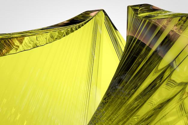Fundo de vidro amarelo abstrato