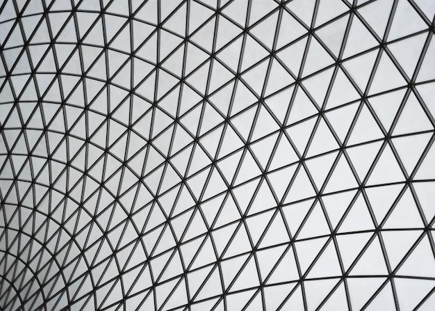 Fundo de vidro com padrão triangular