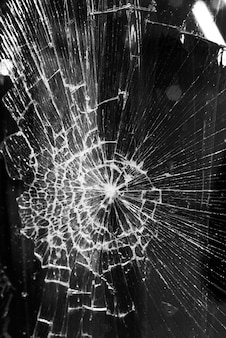 Fundo de vidro quebrado