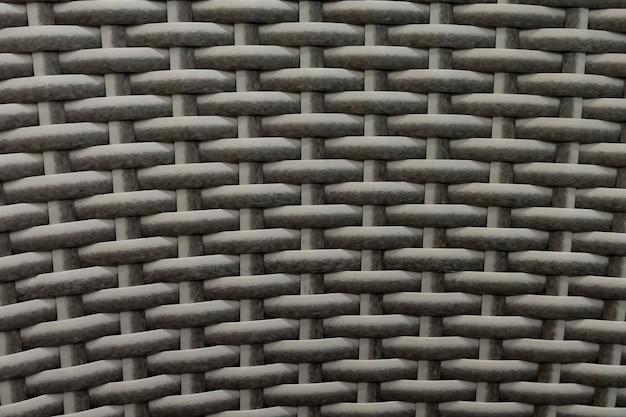 Fundo de vime de bambu branco natural sem emenda, textura de vime.