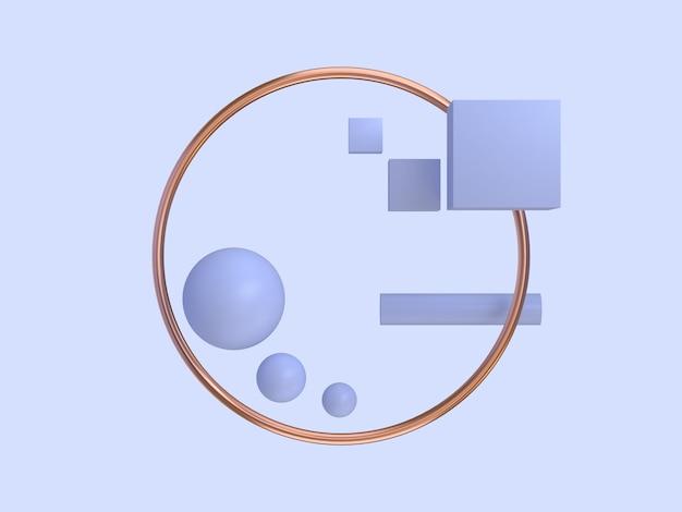 Fundo de violeta de moldura de círculo de cobre