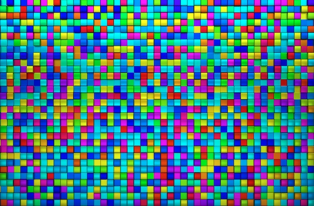 Fundo de vista superior de bloco colorido