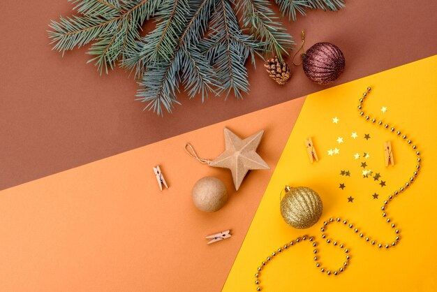 Fundo decorativo colorido de natal