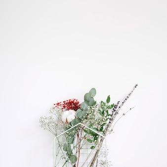 Fundo decorativo com flores diferentes