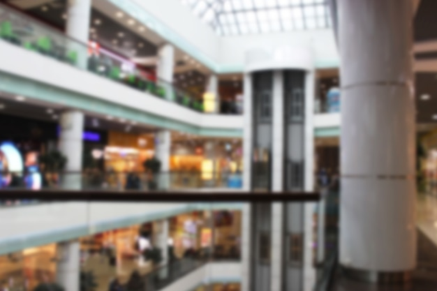 Fundo desfocado abstrato de uma loja de departamentos ou shopping para design